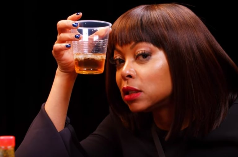 Taraji P  Henson Can't Handle These Spicy Hot Wings